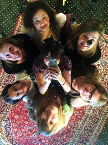 Gruppenbild im Spiegel